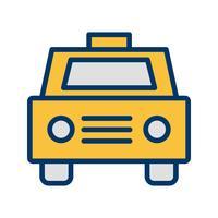 Ícone de táxi de vetor