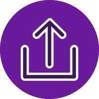Icon-Vektor-Illustration hochladen