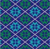 knit nordic snowflake pattern