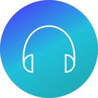 Icono de auriculares ilustración vectorial
