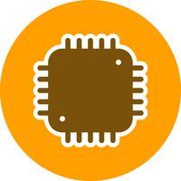 Processorn Ikon Vektor Illustration