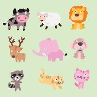 disegno di carattere vettoriale di animali