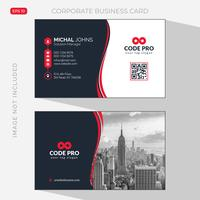 Red elegant corporate card vector