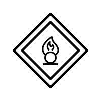 Vector agente oxidante Road Sign Icon
