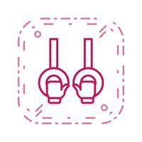 Turnen pictogram vectorillustratie