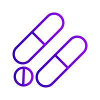 Icône de médicaments de vecteur