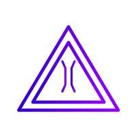 Icono de signo de carretera de puente estrecho de vector