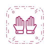 Handskar Ikon Vektor Illustration