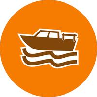 Icône de bateau de vecteur