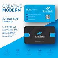 Design criativo cartão de visita vetor