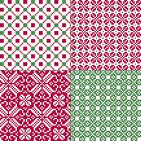 small seamless nordic geometric patterns