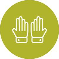 Handschuh-Ikonen-Vektor-Illustration
