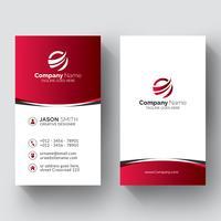Diseño creativo de tarjetas de visita. vector