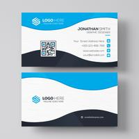 Blue elegant corporate card vector