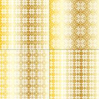 metallic gold and white nordic snowflake patterns