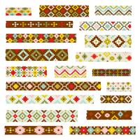 primitive geometric washi patterns