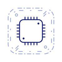 Procesador icono ilustración vectorial vector