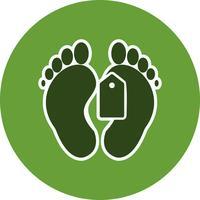 Icône Vector Tag Toe