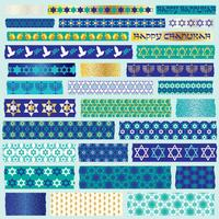 Chanukah washi tape clipart