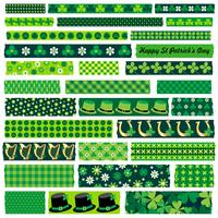 saint patricks day washi tape clipart