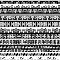 black fretwork border patterns
