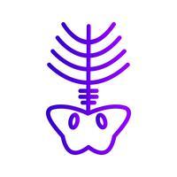 Vector icono de rayos x