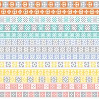 pastel quilt border patterns vector