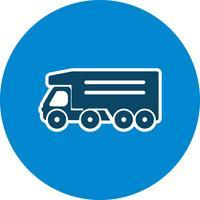 Icône de camion benne vecteur