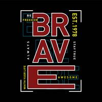 freedom be brave  typography t shirt graphic