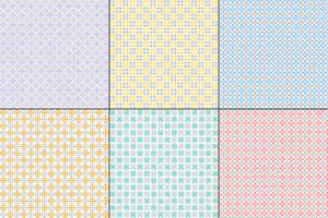 pastel geometric quilt patterns with grey vector