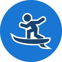 Surf Icon Vector Illustration
