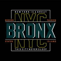 New York City modern typography design
