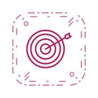 Bullseye-Ikonen-Vektor-Illustration