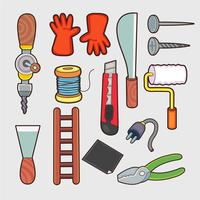 household tools vector.