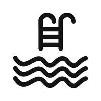 Zwembad pictogram vectorillustratie