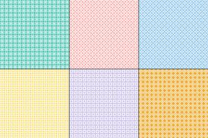 pastel geometric quilt patterns vector