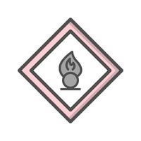 Vector de agente oxidante icono de signo de carretera