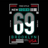 New York grafische typografie stedelijke jonge sportkleding