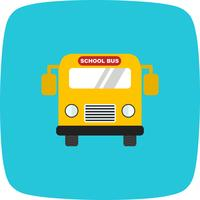 Vector schoolbus pictogram