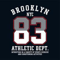 brooklyn do design gráfico para o t-shirt