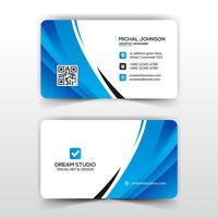 Blått elegant företagskort