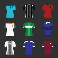 Camisa deportiva maqueta vector