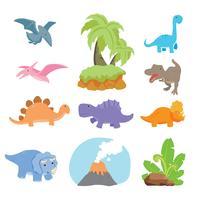Diseño de personajes de vectores de dinosaurios