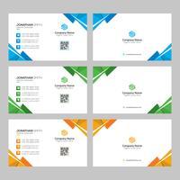 Moderna företags visitkort