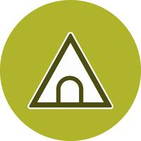 Vector tunnel verkeersbord pictogram