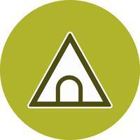 Vector icono de señal de tráfico túnel
