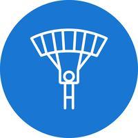 Illustrazione di vettore dell'icona del paracadutista