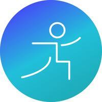 Yoga pictogram vectorillustratie