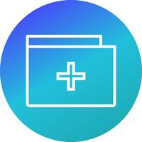 Vector Medical Folder Icon