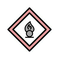 Vector Oxiderende agent Road Sign-pictogram